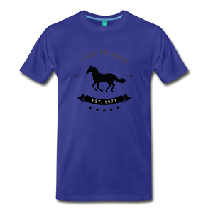 Men's Live to Ride T-Shirt - royal blue