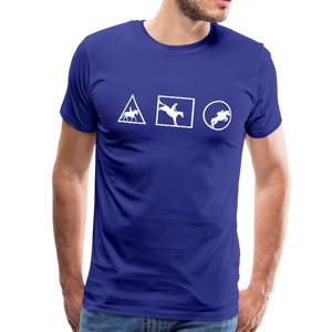 Men's Horse Symbols (solid) T-Shirt - royal blue
