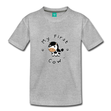 Load image into Gallery viewer, Toddler My First Cow T-Shirt - heather gray