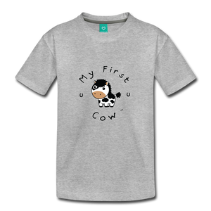 Toddler My First Cow T-Shirt - heather gray
