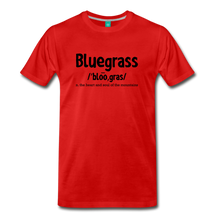 Load image into Gallery viewer, Men's Bluegrass Definition T-Shirt - red