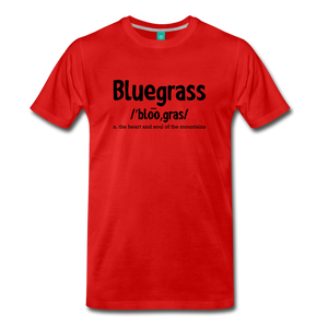 Men's Bluegrass Definition T-Shirt - red