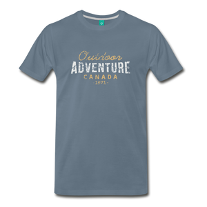 Men's Outdoor Adventure Canada T-Shirt - steel blue