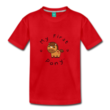 Load image into Gallery viewer, Kids' My First Pony T-Shirt (light brown) - red