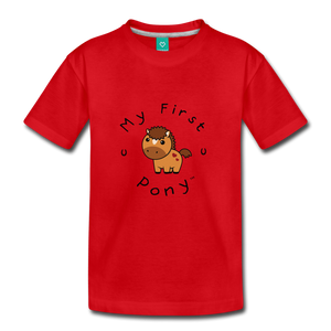 Kids' My First Pony T-Shirt (light brown) - red