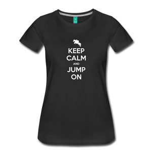 Women's Keep Calm and Jump On T-Shirt - black