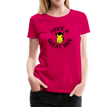 Load image into Gallery viewer, Women's Have a Great Ride T-Shirt - dark pink