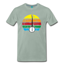 Load image into Gallery viewer, Men's Banjo Rainbow T-Shirt - steel green