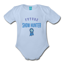 Load image into Gallery viewer, Future Shown Hunter Baby Bodysuit - sky