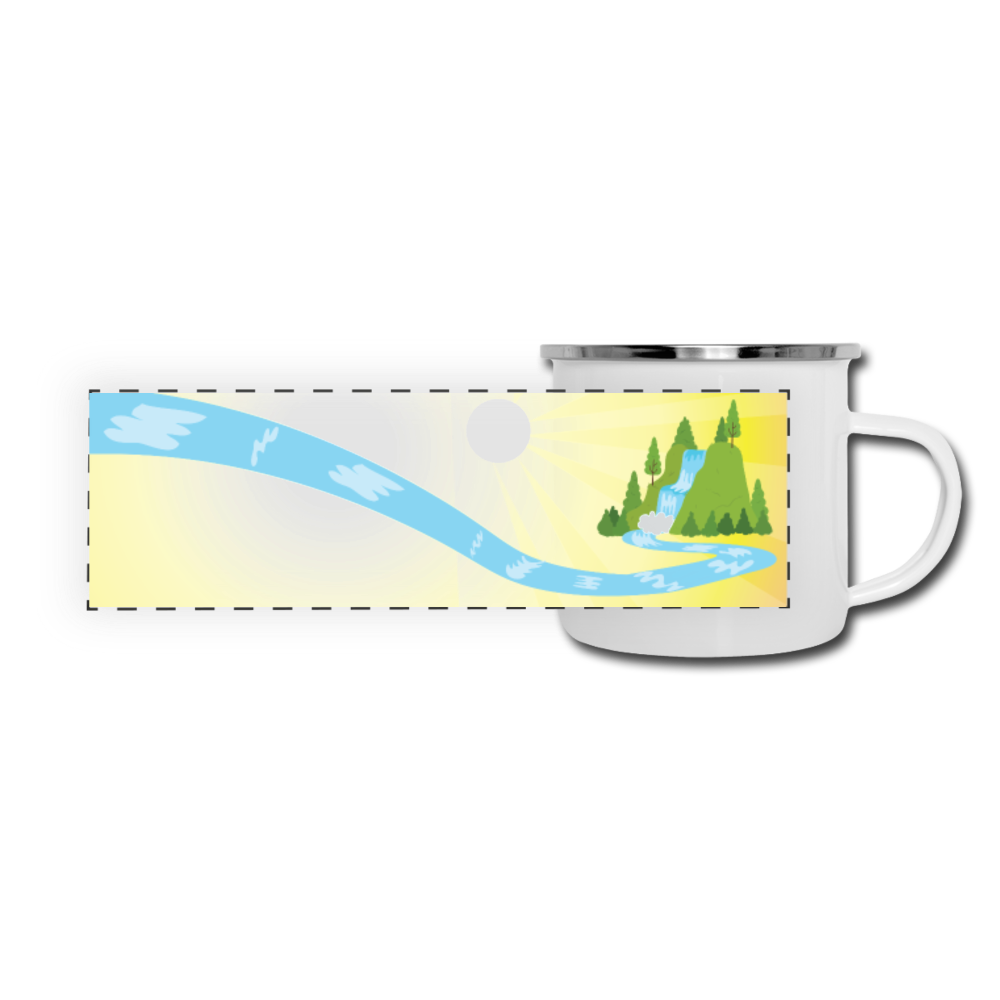 Waterfall Camper Mug - white