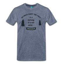 Load image into Gallery viewer, Men's Between Every Two Pines T-Shirt - heather blue