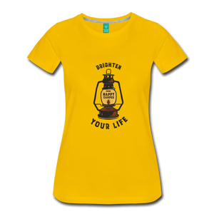 Women's Lantern T-Shirt - sun yellow