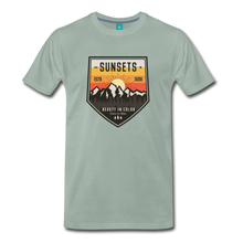 Load image into Gallery viewer, Men's Sunset T-Shirt - steel green