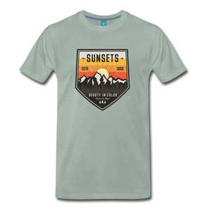 Men's Sunset T-Shirt - steel green