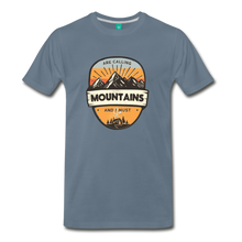 Load image into Gallery viewer, Men's Mountain's Calling T-Shirt - steel blue