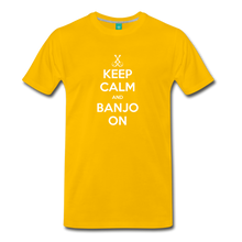 Load image into Gallery viewer, Men's Keep Calm and Banjo On T-Shirt - sun yellow