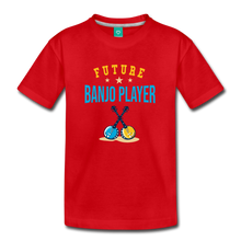 Load image into Gallery viewer, Kids' Future Banjo Player T-Shirt - red