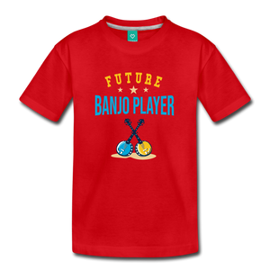 Kids' Future Banjo Player T-Shirt - red