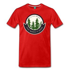 Men's Its the Wood T-Shirt - red