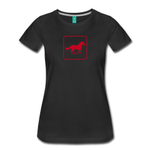 Load image into Gallery viewer, Women's Horse Icon T-Shirt - black