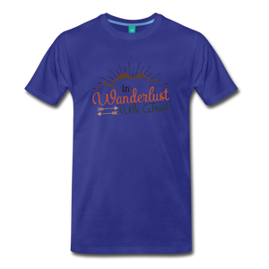 Men's Wanderlust T-Shirt - royal blue