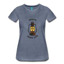 Load image into Gallery viewer, Women's Lantern T-Shirt - heather blue