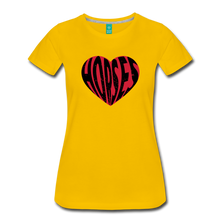 Load image into Gallery viewer, Women's Big Heart Horse T-Shirt - sun yellow
