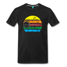 Load image into Gallery viewer, Men's Faded Banjo Rainbow T-Shirt - black