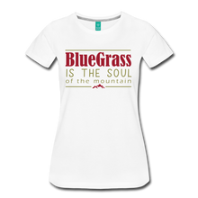 Load image into Gallery viewer, Women's Bluegrass is the Soul T-Shirt - white