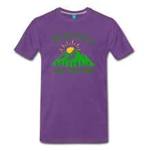 Load image into Gallery viewer, Men's Mountains Feel Like Home T-Shirt - purple