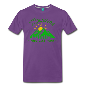 Men's Mountains Feel Like Home T-Shirt - purple