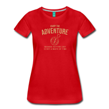 Load image into Gallery viewer, Women's Enjoy the Adventure T-Shirt - red