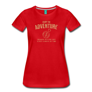 Women's Enjoy the Adventure T-Shirt - red