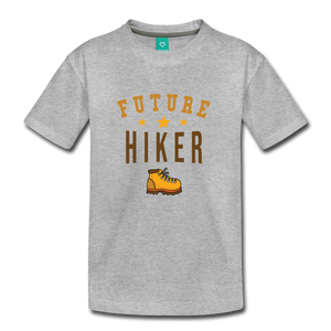 Toddler Future Hiker T-Shirt - heather gray