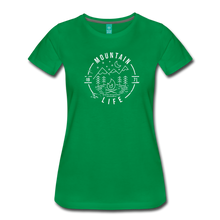 Load image into Gallery viewer, Women's Distressed Mountain Life T-Shirt - kelly green
