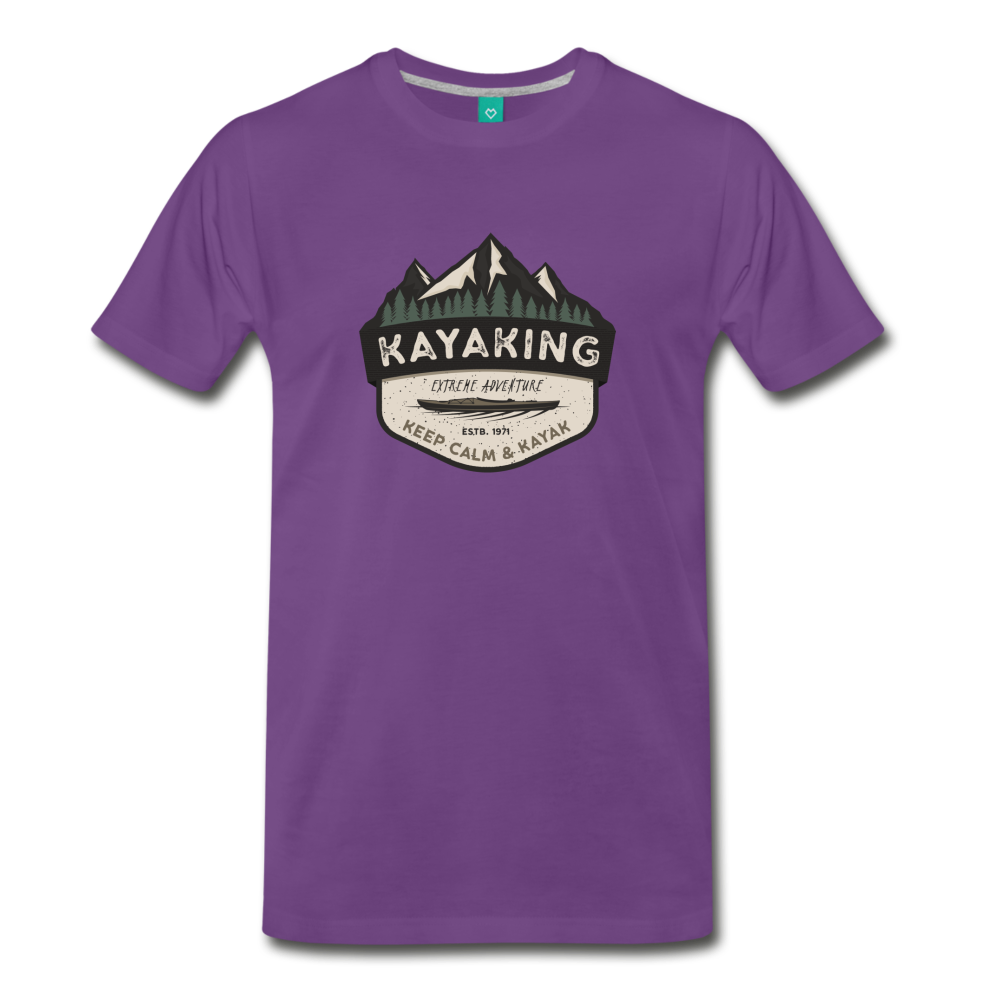 Men's Kayaking T-Shirt - purple
