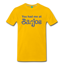 Load image into Gallery viewer, Men's You Had me at Banjos T-Shirt - sun yellow