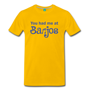 Men's You Had me at Banjos T-Shirt - sun yellow