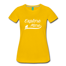 Load image into Gallery viewer, Women's Explore More T-Shirt - sun yellow
