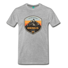 Load image into Gallery viewer, Men's Hiking T-Shirt - heather gray