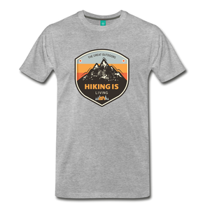 Men's Hiking T-Shirt - heather gray