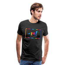 Load image into Gallery viewer, Men's Rainbow Plaid Horse T-Shirt - black