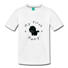 Load image into Gallery viewer, Kids' My First Pony T-Shirt (black) - white