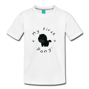 Kids' My First Pony T-Shirt (black) - white