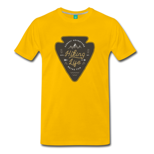 Men's Hiking Life T-Shirt - sun yellow
