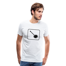 Load image into Gallery viewer, Men's Banjo Icon T-Shirt - white