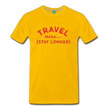 Load image into Gallery viewer, Men's Travel More Stay Longer T-Shirt - sun yellow