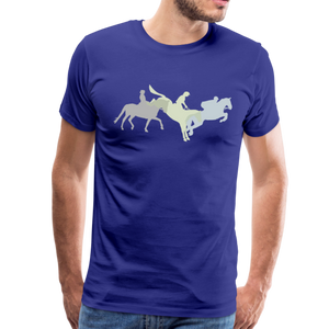 Men's Shadowed Eventing T-Shirt - royal blue