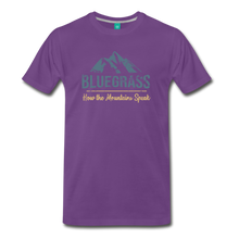 Load image into Gallery viewer, Men's Bluegrass Mountains Speak T-Shirt - purple