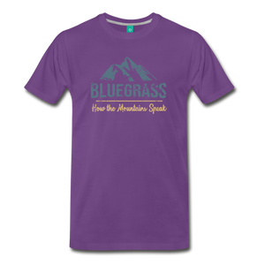 Men's Bluegrass Mountains Speak T-Shirt - purple